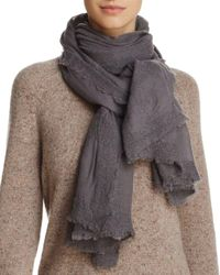 Fraas - Gray Textured Scarf - Lyst