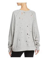Project Social T - Gray My Generation Distressed Sweatshirt - Lyst