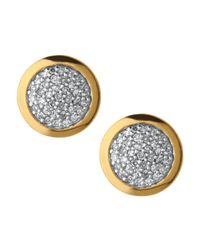Links of London - Metallic Diamond Essentials Pavé Round Stud Earrings - Lyst