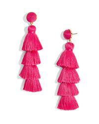 BaubleBar - Pink Gabriela Tiered Tassel Earrings - Lyst