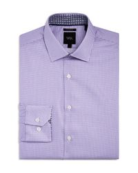 W.r.k. - Purple Micro Dobby Square Slim Fit Dress Shirt for Men - Lyst