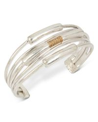 Robert Lee Morris - Metallic Coil-detail Open Cuff Bracelet - Lyst