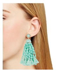 BaubleBar - Blue Beaded Tassel Earrings - Lyst