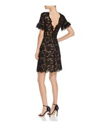 Rebecca Taylor - Black Scalloped Lace Dress - Lyst