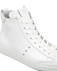 AllSaints White Women's Crey Leather High Top Lace Up Sneakers