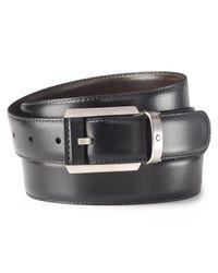 Montblanc - Black Contemporary Line Reversible Belt for Men - Lyst