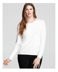 Eileen Fisher | White Crew Neck Long Sleeve Tee | Lyst