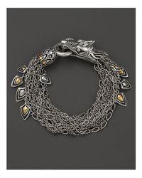 John Hardy - Metallic Naga 18k Gold And Silver Dragon Bracelet - Lyst