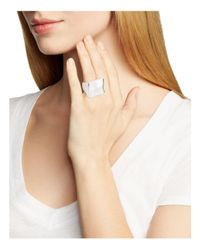 Robert Lee Morris - Metallic Geometric Cocktail Ring - Lyst
