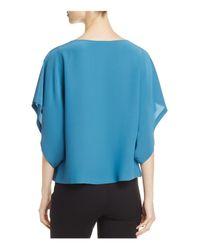 Eileen Fisher - Blue Silk Box Top - Lyst