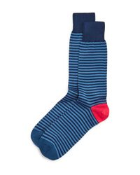 Paul Smith - Blue Two Stripe Socks for Men - Lyst