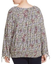 Lucky Brand - Multicolor Floral Smocked-waist Top - Lyst