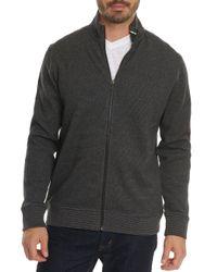 Robert Graham - Gray Oneonta Front-zip Cotton Sweater for Men - Lyst
