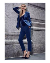 Cami NYC - Blue Silk Velvet Racer Back Top - Lyst