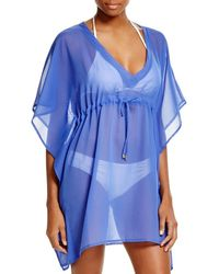 Echo - Blue Solid Silky Butterfly Cover Up - Lyst