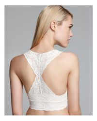 Free People - White Galloon Lace Racerback Crop Bralette - Lyst