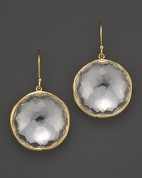 Ippolita - Metallic 18k Yellow Gold Large Lollipop Earrings In Clear Quartz - Lyst