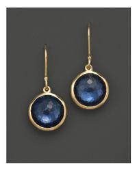 Ippolita - Metallic 18k Gold Mini Lollipop Earrings In London Blue Topaz - Lyst