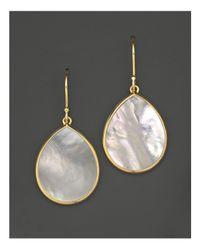 Ippolita | Metallic 18k Gold Polished Rock Candy Teardrop Earrings In Mother-of-pearl | Lyst