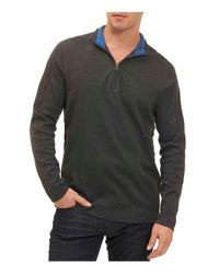 Robert Graham - Gray Elia Quarter-zip Sweater for Men - Lyst