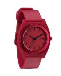 Nixon | Red The Time Teller P Watch, 20mm | Lyst