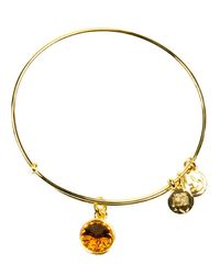 ALEX AND ANI - Yellow November Birthstone Bangle - Lyst