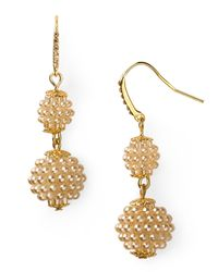 Carolee - Metallic Double Drop Earrings - Lyst