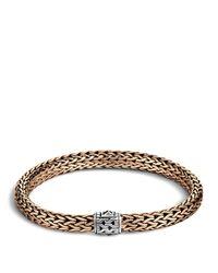 John Hardy | Metallic Men's Classic Chain Silver And Bronze Medium Chain Bracelet for Men | Lyst