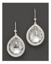 Ippolita - Metallic Sterling Silver Stella Earrings In Clear Quartz With Diamonds - Lyst