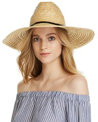 Aqua - Natural Braided Straw Sun Hat - Lyst