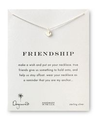"Dogeared | Metallic Friendship Anchor Necklace, 18"" | Lyst"