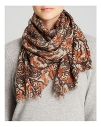 Aqua - Brown Tiger Scarf - 100% Exclusive - Lyst