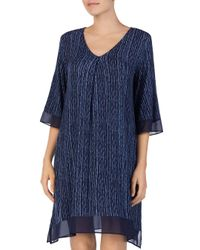 Donna Karan - Blue Short Sleepshirt - Lyst