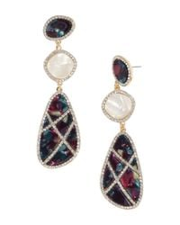 BaubleBar - Multicolor Enna Tiered Pavé Drop Earrings - Lyst