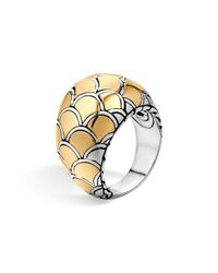 John Hardy - Metallic Sterling Silver & 18k Gold Naga Dome Ring - Lyst