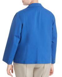 Lafayette 148 New York Blue Chrissy Jacket