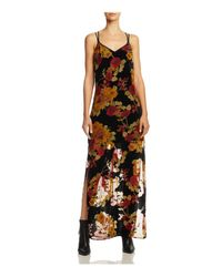 Band Of Gypsies - Black Vintage Burnout Maxi Dress - Lyst