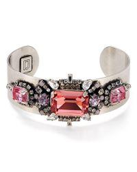 DANNIJO - Pink Lauderette Cuff Bracelet - Lyst
