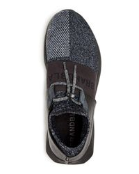Brandblack Black Men's Gama Knit Slip-on Sneakers for men