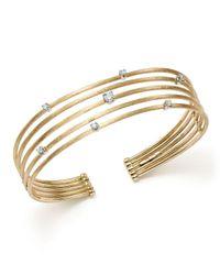 Marco Bicego - Metallic 18k White And Yellow Gold Luce Diamond Cuff Bracelet - Lyst