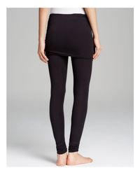 Splendid - Black Skirt Leggings - Fold Over - Lyst