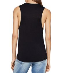 BCBGeneration - Black Nothing Can Dull This Shine Muscle Tank - Lyst