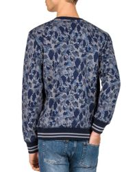 The Kooples - Blue Camo Sweatshirt for Men - Lyst