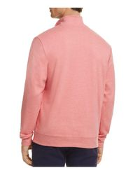 Vineyard Vines - Pink Quarter-zip Cotton Sweater for Men - Lyst