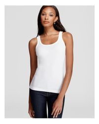 Splendid | White 1x1 Ribbed Tank | Lyst