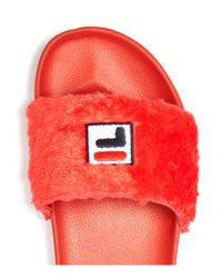 Baja East - Red X Fila Women's Pool Slide Sandals - Lyst