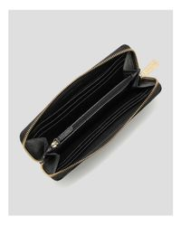 MICHAEL Michael Kors | Black Wallet - Saffiano Zip Around Continental | Lyst