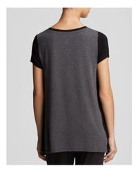 DKNY | Gray Urban Essential Colorblock Tee | Lyst