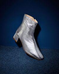 Loeffler Randall - Black Women's Carter Leather Block Heel Booties - Lyst