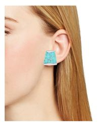 Robert Lee Morris - Blue Stone Clip-on Earrings - Lyst